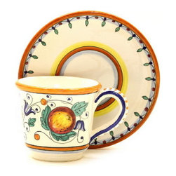 Artistica - Hand Made in Italy - Fruttina: Tea/Coffee Cup and Saucer - Fruttina Collection