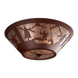 Steel Partners Inc - Round Drop Ceiling Mount - FLY FISHERMAN - Every piece we create is unique — handcrafted at our factory in Chehalis, Washington, USA. Due to this, lead times are 2 to 4 weeks.