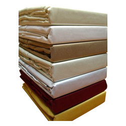 """Bed Linens - 600 TC Solid Sheet Set, 100% Egyptian cotton, Queen, White - 600 thread count single ply *100% Egyptian cotton, Sateen Weave. *Fitted sheet hasa 16"""" pocket to fit up to 18"""" mattress *Machine wash"""