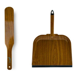 Alice Supply Co Woodgrain Dustpan & Dust Brush Cleaning Supplies - This dustpan and brush set is so contemporary and neat. I imagine Patrick Bateman would allow this in his perfect apartment, and I mean that as a compliment.