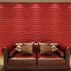 None - 3D Wall Panels Plant Fiber Sands Design (6 Panels Per Box) - Turn your dull wall into eye candy decoration! Various designs,these 3D Wall Panels can be integrated into any modern decors,and make common walls to Art-Pieces. Use your imagination to arrange the panels to create pattern and apply your colors!