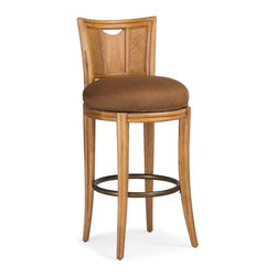 American Drew - American Drew Antigua Round Swivel Bar Stools - Set of 2 Multicolor - ADL4355 - Shop for Stools from Hayneedle.com! The American Drew Antigua Round Swivel Bar Stools add a hint of exotic style to any bar or counter. This set of two chairs is crafted from hardwood solids and Primavera veneers. A Toasted Almond finish offers warm tones complemented by the rattan woven panel backs. Thick padded seat cushions are adorned in tan upholstery and feature a swivel seat making getting in and out of bar or close counter settings a snap. Please note: This item is not intended for commercial use. Warranty applies to residential use only.About American DrewFounded in 1927 American Drew is a well-established leading manufacturer of medium- to upper-medium-priced bedroom dining room and occasional furniture. American Drew's product collections cover a broad variety of style categories including traditional transitional and contemporary. Their collections range from the legendary 18th-century traditional Cherry Grove celebrating its 42nd year of success to the extremely popular Bob Mackie Home Collection influenced by the world-renowned fashion designer Bob Mackie. Jessica McClintock Home features another beloved designer bringing unique style to an American Drew line. American Drew's headquarters are located in Greensboro N.C. Their products are distributed through thousands of independently owned retailers throughout the United States and Canada and around the world.