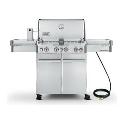 Weber - S-470 Summit Gas Grill, Sear Burner, Rotisserie | 7270001 | NG - This item is a special order only and may take an additional 7-10 business days