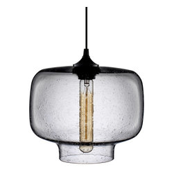 Niche Modern - Oculo Modern Pendant - Nothing warms a room quite like bold lighting. Let this pendant hang alone or cluster it with similar glass pendants for a playful and dramatic effect. Either way, your room will be filled with beautifully flattering light.