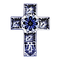 Talavera Home Accessories - The cross is the universal symbol of Christianity. This Talavera cross is lovingly hand-made of clay and hand-painted with a variety of lively colors by skilled craftsmen in Mexico. The eye-catching designs and radiant colors on this Talavera cross will surely make a beautiful addition to any room. Place this cross in one room or several rooms...wherever you wish to display remembrance of your faith.