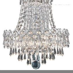 """PWG Lighting / Lighting By Pecaso - Agathe 3-Light 12"""" Crystal Wall Sconce 1617W12SC-EC - This classical Agathe Crystal Chandelier with flowing symmetrical shape and nearly invisible frame offers a striking surge of brilliant light. Sconces and ceiling mounts enhance your room decor."""