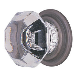 Old Town Wardrobe Knob - This beautiful knob made of lead crystal and is hand polished to achieve maximum shine and brilliance. Its sparkle is magnified by the silver mirroring on the back side of the knob, which replicates true antique design.
