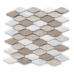 GlassTileStore - Sample-Iota Ivory Dust Marble Tile Sample -