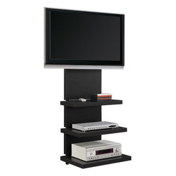 Altra - Hollow Core AltraMount TV Stand - Convenient. Stylish. Space Saving. These are only a few words that describe the AltraMount TV Stand. This new TV stand is not only very simple to put together but lets you mount your TV and creates a wire management solution all in one! No more needing to buy a mount and then pay more money for a TV stand becasue the AltraMount will do it all. The lightweight shelves and sturdy metal frame make this a system you, and your budget, can rely on.