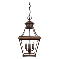 Quoizel Lighting - Quoizel Lighting CAR1801AC Williamsburg 3 Light Outdoor Pendant - For over seventy years, Quoizel lighting has been dedicated to the design and production of its diversified line of fine lighting products and home accessories.