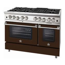 "BlueStar Platinum Series: 48"" Range - 48"" BlueStar Platinum Range in Mahogany Brown (RAL 8016)"