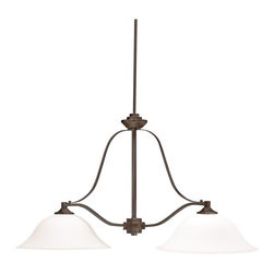 Kichler Lighting - Kichler Lighting 3882OZ Langford 2 Light Island Lights in Olde Bronze - This 2 light Island Chandelier from the Langford collection by Kichler will enhance your home with a perfect mix of form and function. The features include a Olde Bronze finish applied by experts. This item qualifies for free shipping!