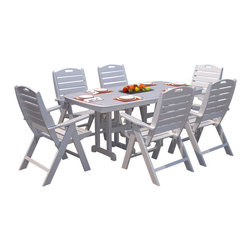Polywood - Nautical 7-Piece Dining Set - We are very proud of the comfort our new Nautical Collection provides.