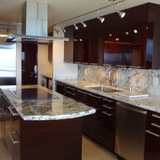 Contemporary Kitchen Cabinetry by V&C Custom Cabinets