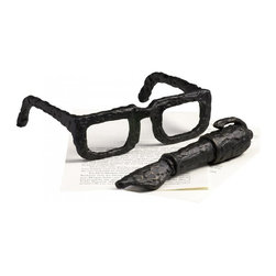 "Joshua Marshal - Decorative 2"" Sculptured Spectacles - Decorative 2"" Sculptured Spectacles"
