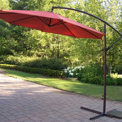 Oakland Living - Rochester Cantilever Umbrella - Lightweight. Traditional straight pattern. Stainless steel hardware. Warranty: One year. Made from durable metal and poly material and tubular iron. Burnt orange color. Fade, chip and crack resistant. Minimal assembly required. 120 in. L x 120 in. W x 120 in. H (46 lbs.)The Oakland Rochester collection combines practical designs and modern style giving you a rich addition to any outdoor setting.