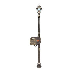 "Special Lite Products - Ashland Mailbox / Post Light Combination Pole - All of the special lite mailbox posts have quality you can see. The Ashland lighting and mailbox combination post may be used with any special lite post mount lanterns and curbside mailboxes. The solid cast aluminum construction, with thick walls provides added strength, and the powder coated finish will maintain a lifetime of beauty. Features: -Ashland mailbox / post light combination pole. -Material: Rust-proof cast aluminum. -Available in several finishes. -Used with any special lite post mount lanterns and curbside mailboxes. -Mailbox and light sold separately. -Dimensions: 80"" H x 7.5"" W."