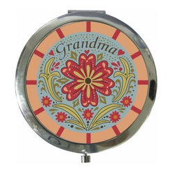 "WL - 3 Inch Blue, Red, and Pink ""Grandma"" Compact with Flowers - This gorgeous 3 Inch Blue, Red, and Pink ""Grandma"" Compact with Flowers has the finest details and highest quality you will find anywhere! 3 Inch Blue, Red, and Pink ""Grandma"" Compact with Flowers is truly remarkable."