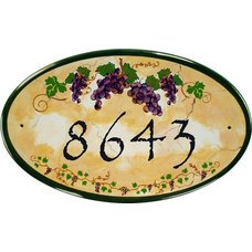 Mediterranean House Numbers by Classy Plaques Studio