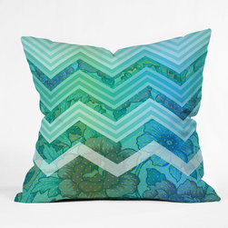 "DENY Designs - Gabi Azul Throw Pillow - Wanna transform a serious room into a fun, inviting space? Looking to complete a room full of solids with a unique print? Need to add a pop of color to your dull, lackluster space? Accomplish all of the above with one simple, yet powerful home accessory we like to call the DENY Throw Pillow! Features: -Pillow. -Gabi Azul collection. -Fabric: Woven polyester. -Closure: Sealed. -Care: Spot treatment with mild detergent. -Manufacturing 6 color dye process custom printed for every order. -Made in the USA.Dimensions: -Small: 26"" H x 26"" W x 7"" D: 4 lbs. -Medium: 20"" H x 20"" W x 6"" D: 4 lbs. -Large: 18"" H x 18"" W x 5"" D: 3 lbs. -Extra Large: 16"" H x 16"" W x 4"" D: 3 lbs."