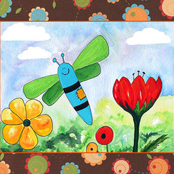 Oh How Cute Kids by Serena Bowman - Patchwork Butterfly, Ready To Hang Canvas Kid's Wall Decor, 20 X 24 - Each kid is unique in his/her own way, so why shouldn't their wall decor be as well! With our extensive selection of canvas wall art for kids, from princesses to spaceships, from cowboys to traveling girls, we'll help you find that perfect piece for your special one.  Or you can fill the entire room with our imaginative art; every canvas is part of a coordinated series, an easy way to provide a complete and unified look for any room.