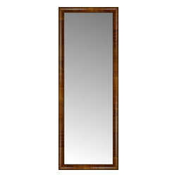 """Posters 2 Prints, LLC - 21"""" x 56"""" Belmont Light Brown Custom Framed Mirror - 21"""" x 56"""" Custom Framed Mirror made by Posters 2 Prints. Standard glass with unrivaled selection of crafted mirror frames.  Protected with category II safety backing to keep glass fragments together should the mirror be accidentally broken.  Safe arrival guaranteed.  Made in the United States of America"""