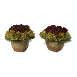 """60044 Bed of Chocolate Roses, Set/2 by Uttermost - Get 10% discount on your first order. Coupon code: """"houzz"""". Order today."""