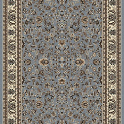 """Radici USA - Traditional Alba 9'10""""x12'10"""" rectangle Grey-Blue Area Rug - The Alba area rug Collection offers an affordable assortment of Traditional stylings. Alba features a blend of natural Grey-Blue color. Machine Made of Olefin the Alba Collection is an intriguing compliment to any decor."""