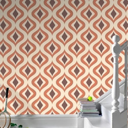 Superfresco Easy Trippy - How fun is this wallpaper pattern? It really has a seventies feel and could look really great in a vintage house against old trim-there are so many possibilities with wallpaper-let your imagination take over.