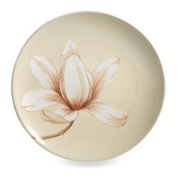 Noritake - Noritake Colorwave White Floral 8 1/4-Inch Accent Plate - This ultra-modern stoneware sports a matte white glaze exterior and a creamy interior. Create a uniform table in one color and shape or mix and match other Colorwave dinnerware for a dazzling effect.