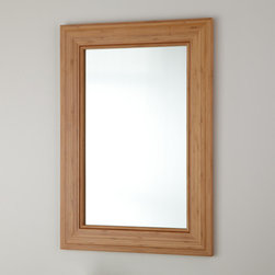 """20"""" Portola Bamboo Vanity Mirror - Complete a contemporary or minimalist bath with the 20"""" Portola Vanity Mirror, made of renewable and moisture-resistant bamboo."""