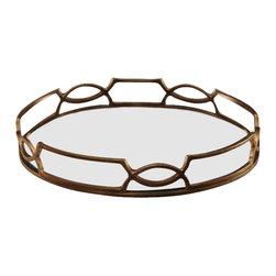 Zodax - Zodax Venezia Tray with Mirror Insert - Zodax - Serving / Decorative Trays - IN5202 - Venezia Tray with Mirror Insert