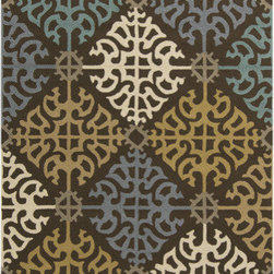 Surya - Surya Rain RAI-1152 (Brown, Multi) 5' x 8' Rug - Rain or shine, these rugs look great outdoors! These hand hooked all weather rugs are manufactured to withstand the rigors of outdoor use. You don't need to worry about ruining your rug by spilling a drink or dropping food, just hose off and it's clean! The colors and designs we specially created to add to the outdoor ambiance.