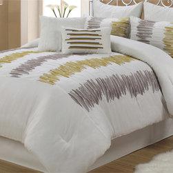 Meridia Abstract White 8-piece Comforter Set -
