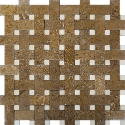 STONE TILE US - Stonetileus 10 pieces (10 Sq.ft) of Mosaic Tile Basket view - Mosaic Tile - Basket view Free shipping.. Set of 10 pieces, Covers 10 sq.ft.