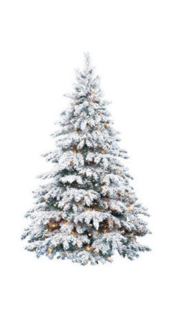 Flocked Silver Tip Artifical Christmas Tree - 8 ft. x 66 in. Artificial Christmas Tree
