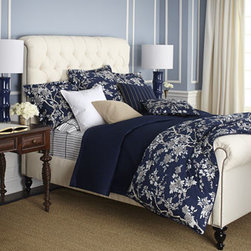 "Ralph Lauren - Ralph Lauren Full/Queen Diamond-Quilted Wyatt Coverlet, 90"" x 90"" - Meticulous craftsmanship defines elegant and polished, 624-thread-count cotton sateen bedding with beautifully executed hemstitch detail. Select pieces may be monogrammed, if desired. From Ralph Lauren's Signature Classics collection. Select color wh..."