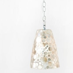 George Shell Fiberglass Pendant Light by Worlds Away