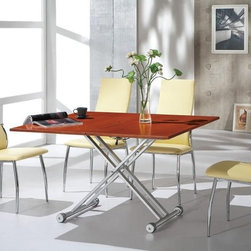 Modern Extendable Wooden Furniture Dining Room Sets - Contemporary foldable 5 pc dining set. Form meets function in this dining room set.