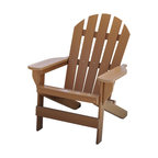 Jayhawk Plastics Inc. - Cape Cod Adirondack Chair, Cedar - The Jayhawk Plastics Cape Cod Chair was built with comfort in mind. Made with a 5 slatted configuration in the back, this chair reflects the traditional style of your everyday Adirondack Chair. The entire chair is made from Jayhawk's 100% Recycled Plastic making the chair maintenance free. The entire product is UV stabilized to protect against fading. The hardware used is Marine Grade Stainless Steel, an industry first.