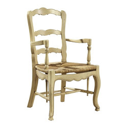 EuroLux Home - Pair French Country Style Ladderback Arm - Product Details