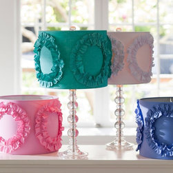 Ruffle Rings Shade - A little bit of frill can go a long way with these cute lampshades.