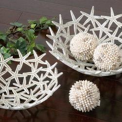 www.essentialsinside.com: starfish bowls - Starfish Decorative Bowls with Spheres, Set Of 5 by Uttermost, available at the essentials inside, www.essentialsinside.com