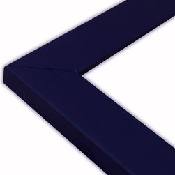 The Frame Guys - Flat Navy Blue Picture Frame-Solid Wood, 16x20 - *Flat Navy Blue Picture Frame-Solid Wood, 16x20