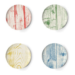 Thomas Paul Portland Melamine Coaster Set - Cute and colorful with an appealing woodgrain pattern, this melamine coaster set from Thomas Paul was inspired by Portland, one of the greenest cities in the United States.
