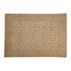 1800-Get-A-Rug - 100 Percent Wool Hand Knotted Fine Ziegler Mahal Oriental Rug Sh19235 - 100 Percent Wool Hand Knotted Fine Ziegler Mahal Oriental Rug Sh19235