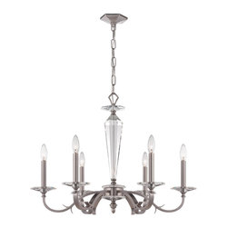 Crystorama - Crystorama 2236-PW Hugo 6-Light Chandeliers in Pewter - Simply elegant. Less is more when it looks this stunning.