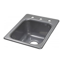"""Lyons - Lyons Deluxe DKPREP64 Acrylic Kitchen Sink - Lyons Industries Single Bowl Metallic Silver acrylic kitchen Prep sink 8"""" deep with three faucet holes on 8"""" centers. This standard self rimming 16""""X22"""" sink is easy to install as a remodel or new construction project. This sturdy sink has durable easy to clean high gloss acrylic construction with a fiberglass reinforced insulation backer. This sink is quiet and provides a superior heat retention than other sink materials meaning your water stays warm longer. Lyons sinks come with a simple mounting tab and clip system to firmly fasten the sink to the countertop and reinforced drain areas for safely supporting a garbage disposal. Detailed installation instructions include the cut-out specifications. Lyons sinks are proudly Made in America by experienced artisans supporting our economy."""