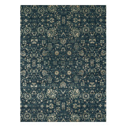 """Loloi Rugs - Loloi Rugs Journey Collection - Navy / Beige, 2'-4"""" x 7'-9"""" - Inspired by the success of our top selling Nyla Collection, the Journey Collection looks just as elegant, but offers more modern appeal. It's also extremely versatile, looking just as flattering in a contemporary loft as it does in a traditional setting. And because Journey is power loomed in Egypt of 50% wool and 50% viscose, you get the best of softness and sheen."""