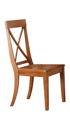 Steve Silver Company - Steve Silver Company Oslo Side Chair in Oak - Steve Silver Company - Dining Chairs - OS150SK - The Oslo Chair (Oak) compliments the stylish Oslo desk and provides comfortable seating while you work.  Available in black white or cherry.